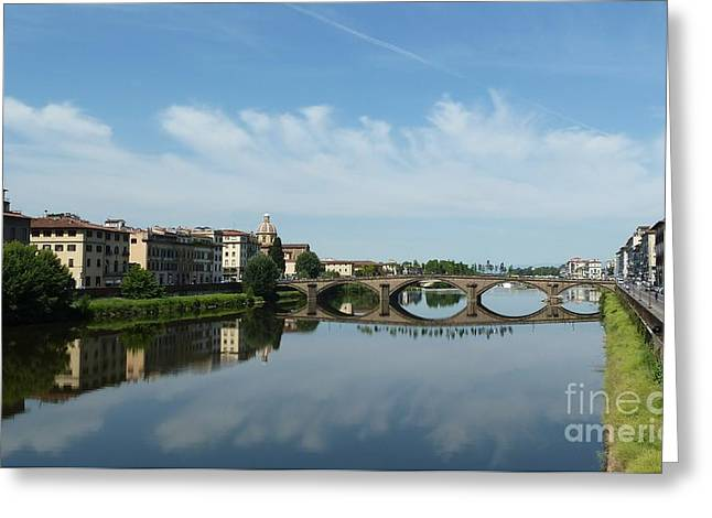 Faa Featured Work Greeting Cards - Florence Reflections Greeting Card by Zori Minkova