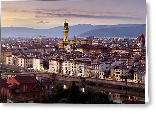 Best Sellers -  - Tuscan Sunset Greeting Cards - Florence Greeting Card by Rod McLean