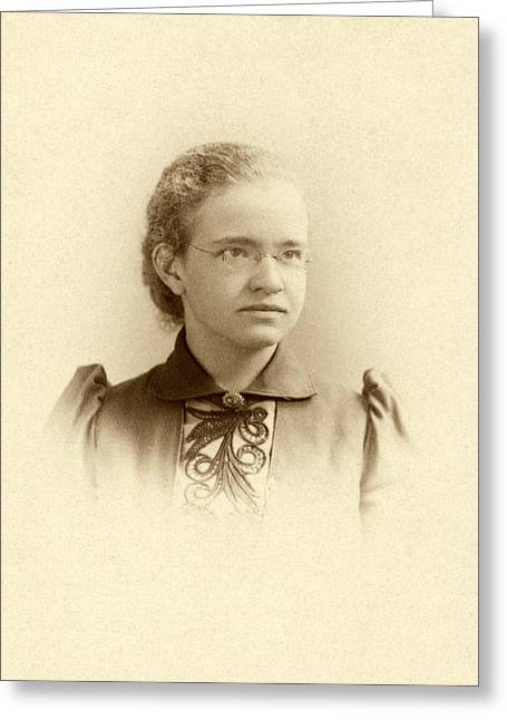 Florence Sabin Greeting Card by National Library Of Medicine