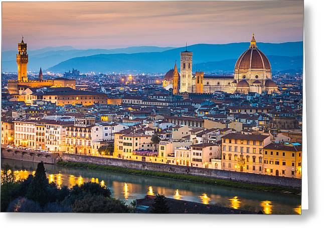 Olive Oil Greeting Cards - Florence Greeting Card by Stefano Termanini