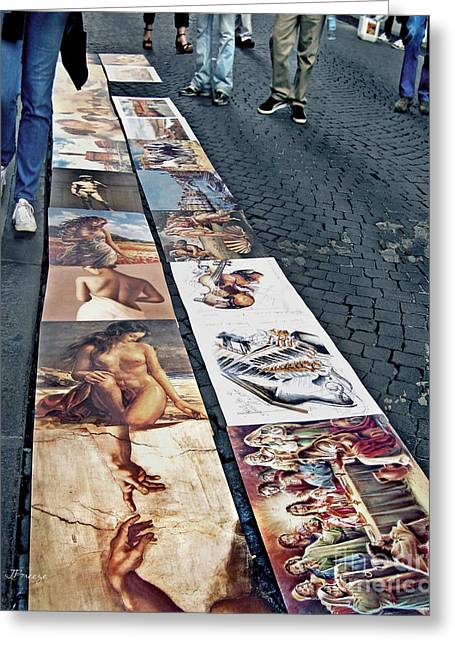 Last Supper Greeting Cards - Florence Street Art Greeting Card by Jennie Breeze