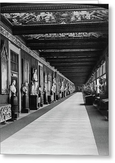 Florence Uffizi Gallery Greeting Card by Granger