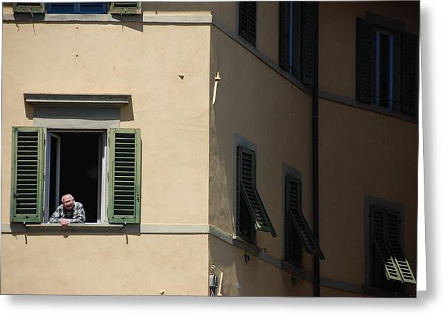 Window Of Life Greeting Cards - Florence Window Greeting Card by Kendell Timmers
