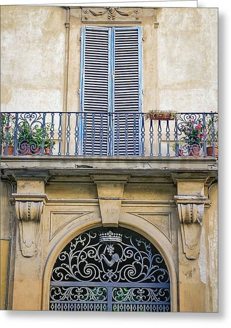 Fiorenza Greeting Cards - Florentine Apartment Greeting Card by Karen Stephenson