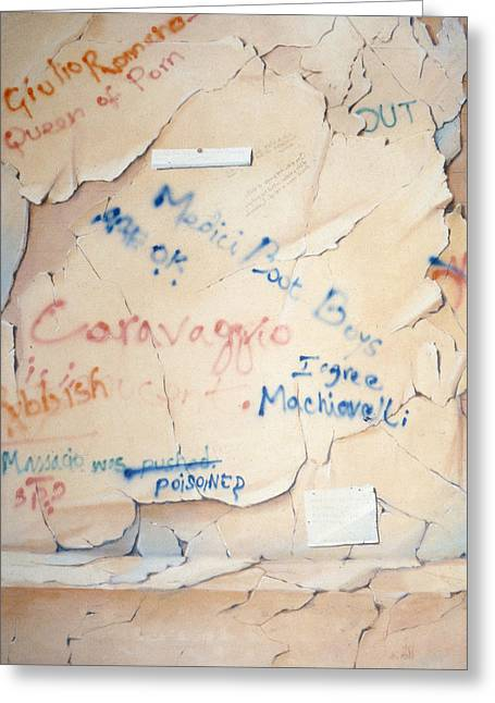Contemporary Photographs Greeting Cards - Florentine Graffiti Greeting Card by Lincoln Seligman