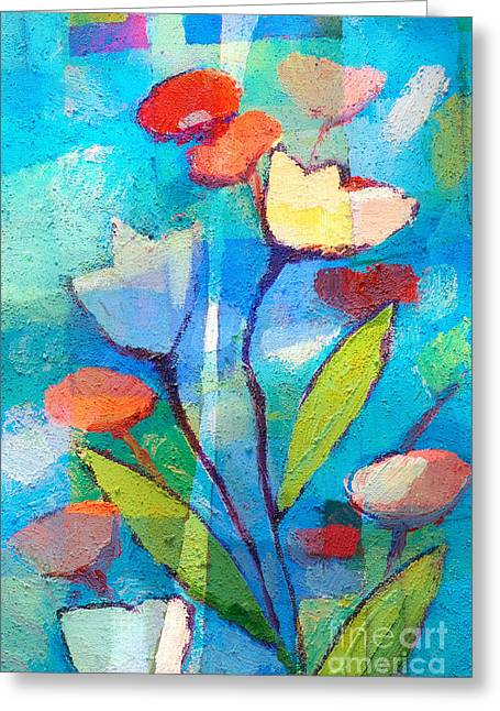 Abstract Expressionist Greeting Cards - Florianis Greeting Card by Lutz Baar