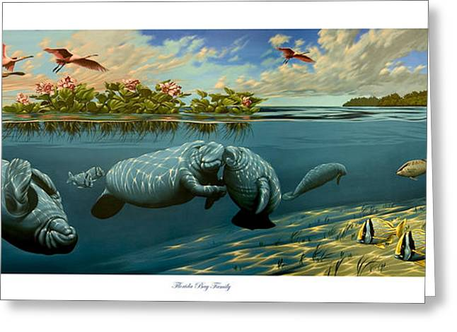 Philip Slagter Paintings Greeting Cards - Florida Bay Family Greeting Card by Philip Slagter