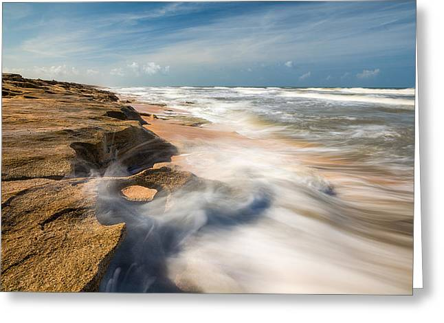 Florida Landscape Photography Greeting Cards - Florida Beach St Augustine Washington Oaks State Park Greeting Card by Dave Allen