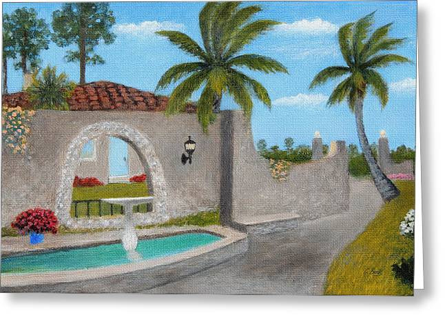 Portal Paintings Greeting Cards - Florida Charm Greeting Card by Gordon Beck