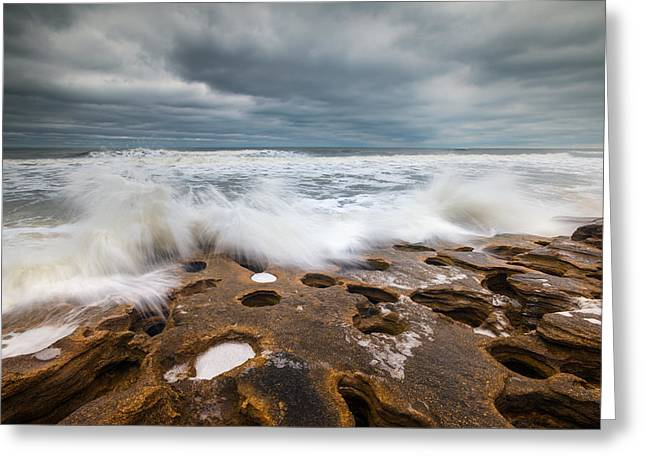 Florida Landscape Photography Greeting Cards - Florida East Coast Beach St. Augustine FL Landscape Greeting Card by Dave Allen