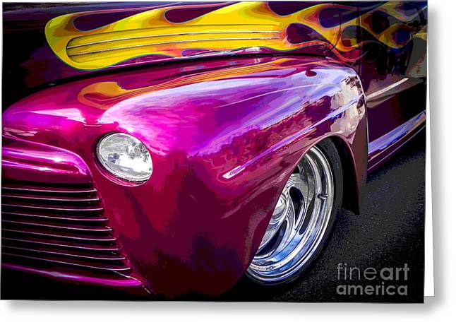 Tricked-out Cars Greeting Cards - Florida Flames Greeting Card by Chuck Re