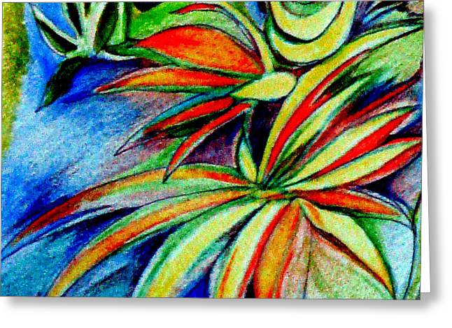 Florida Flowers Drawings Greeting Cards - Florida Flower 1 Greeting Card by Joy Calonico