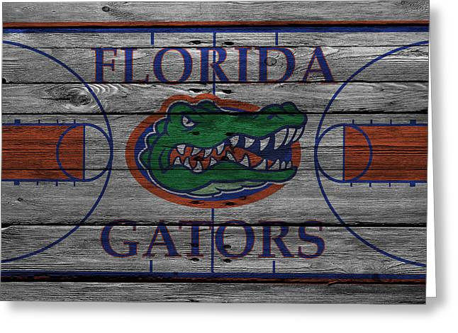 Florida Gators Greeting Cards - Florida Gators Greeting Card by Joe Hamilton