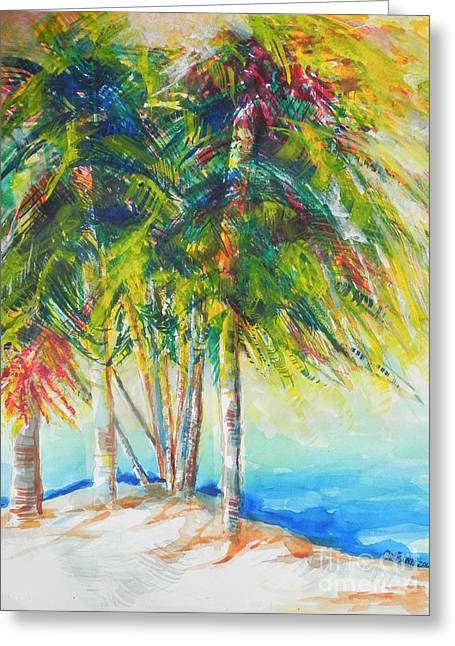 Abstract Beach Landscape Greeting Cards - Florida Inspiration  Greeting Card by Chrisann Ellis