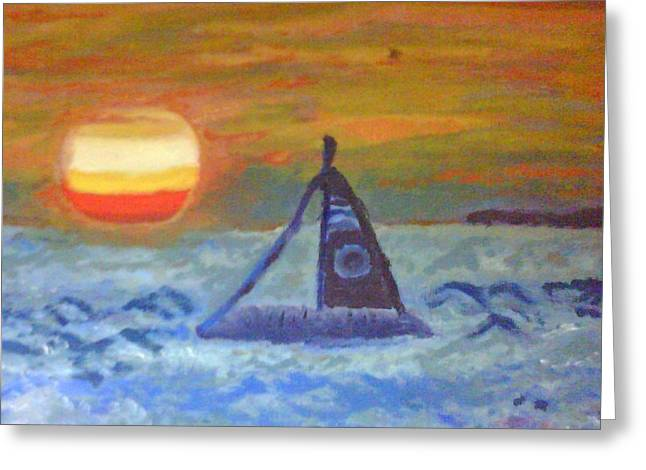 Keyes Greeting Cards - Florida Key Sunset Greeting Card by Suzanne Berthier