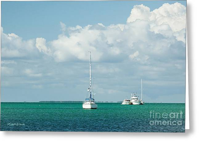 Florida House Greeting Cards - Florida Keys Livin Greeting Card by Michelle Wiarda