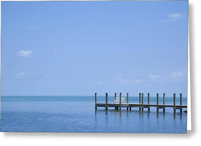 Oblong Greeting Cards - FLORIDA KEYS Quiet Place Greeting Card by Melanie Viola