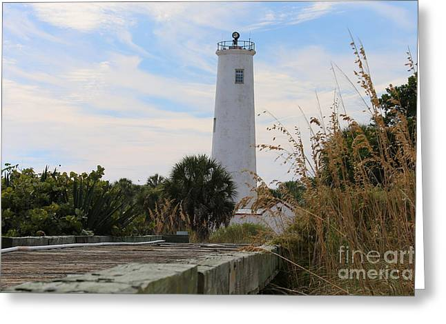 St Petersburg Florida Greeting Cards - Florida lighthouse Greeting Card by Michael Paskvan