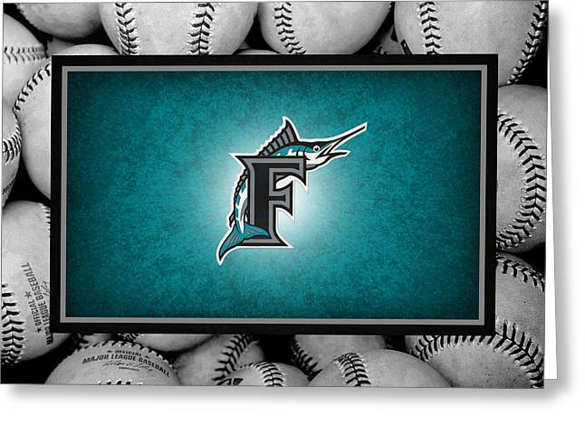 Marlin Greeting Cards - Florida Marlins Greeting Card by Joe Hamilton