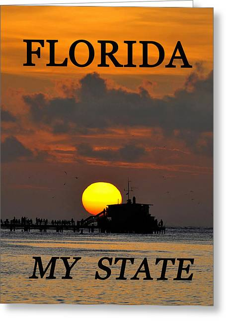 My Ocean Greeting Cards - Florida my State Greeting Card by David Lee Thompson