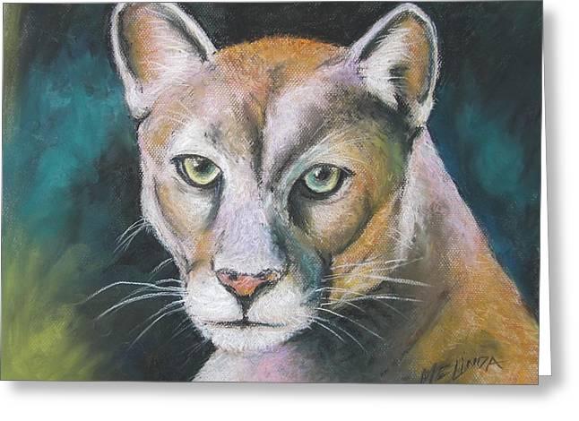 Florida Panther Greeting Card by Melinda Saminski