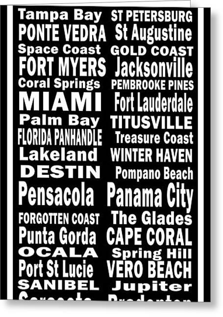 Panama City Beach Digital Greeting Cards - Florida Places On Canvas.com Greeting Card by Joans Craft World