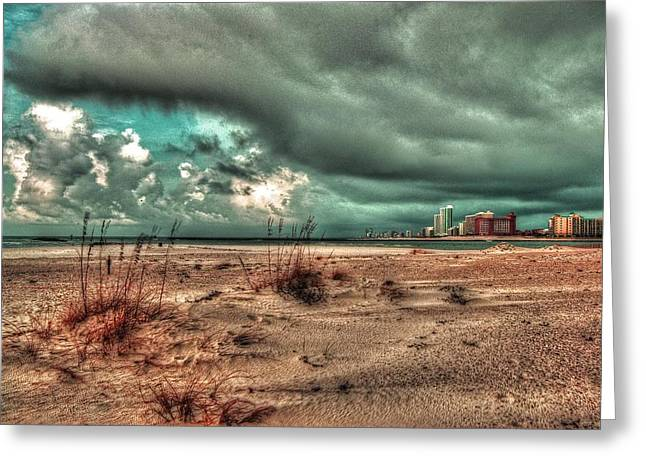 Crimson Tide Greeting Cards - Florida Point begining of the storm Greeting Card by Michael Thomas
