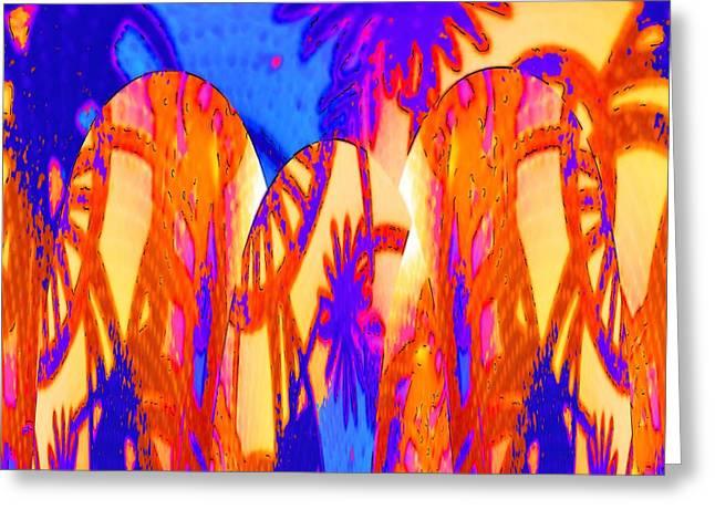 Florida Splash Abstract Greeting Card by Alec Drake