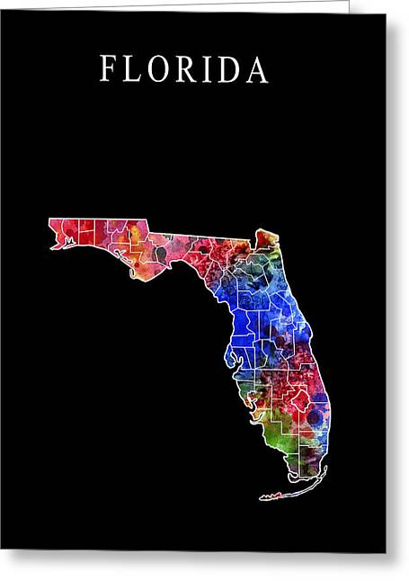 Miami Heat Digital Art Greeting Cards - Florida State Greeting Card by Daniel Hagerman