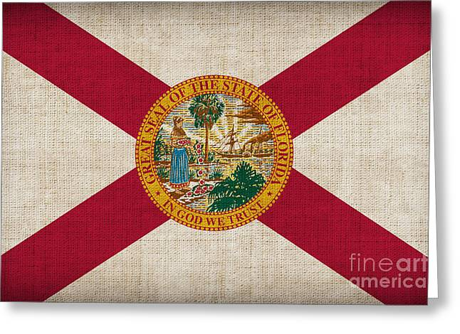 Pixel Chimp Greeting Cards - Florida State Flag Greeting Card by Pixel Chimp