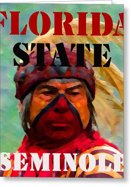 Football National Champions Greeting Cards - Florida State Seminole phone case 2014 Greeting Card by David Lee Thompson