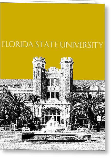 College Campus Greeting Cards - Florida State University - Gold Greeting Card by DB Artist