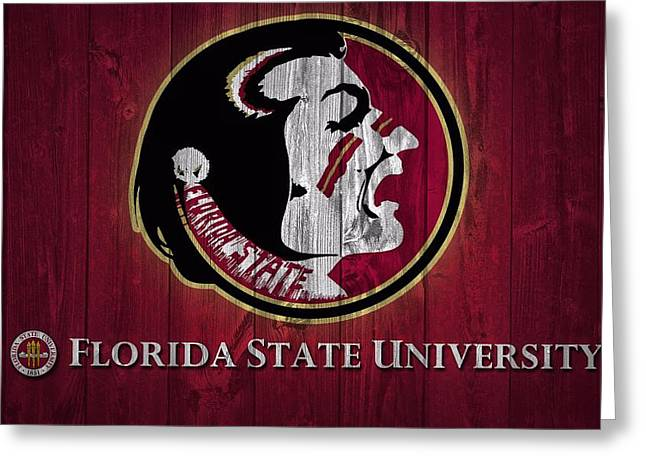 Ncaa Greeting Cards - Florida State University Barn Door Greeting Card by Dan Sproul