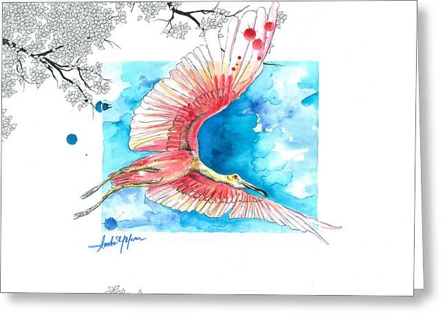Moran Mixed Media Greeting Cards - Florida Sunset Greeting Card by Amber M  Moran