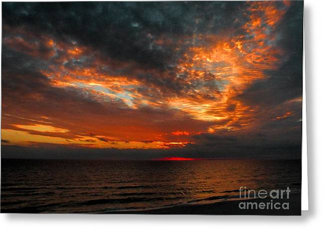 Panama City Beach Greeting Cards - Florida Sunset Greeting Card by Dave Bosse