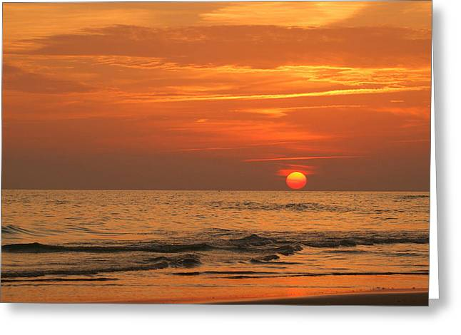 Panama City Beach Fl Greeting Cards - Florida Sunset Greeting Card by Sandy Keeton