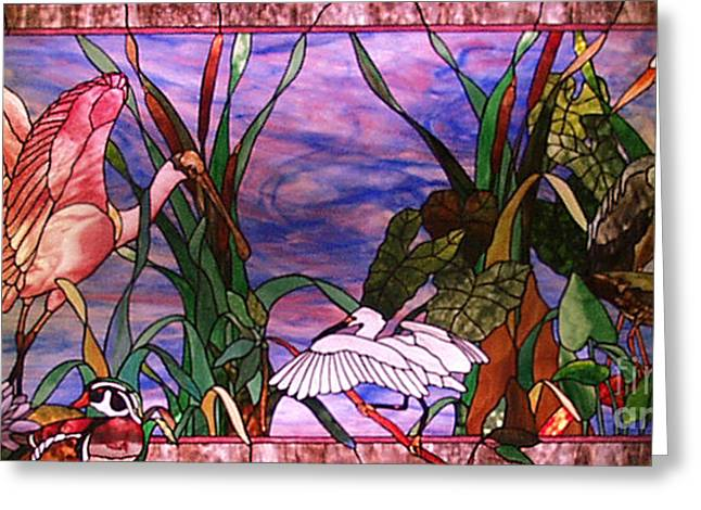 Animals Glass Art Greeting Cards - Florida Tropical Greeting Card by John Emery