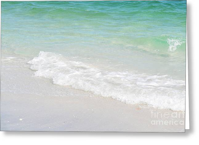 Tropical Oceans Greeting Cards - Florida Tropical Ocean Waves Greeting Card by Andrea Hazel Ihlefeld