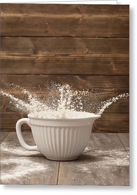 Flour Greeting Cards - Flour Splash Greeting Card by Amanda And Christopher Elwell