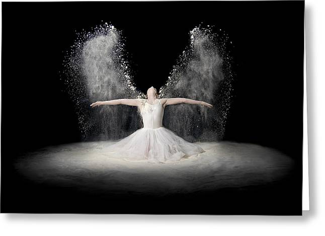 Flour Wings Greeting Card by Pauline Pentony Ba