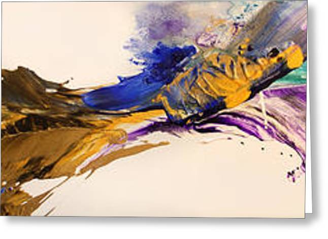 Abstract Expressionist Greeting Cards - Flow #146 Greeting Card by Jonas Gerard