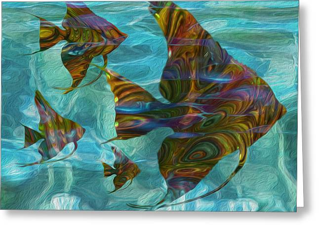 Scuba Diving Greeting Cards - Flow 15 Greeting Card by Jack Zulli