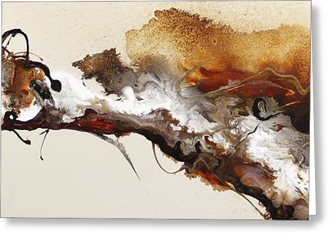 Abstract Expressionist Greeting Cards - Flow #164 Greeting Card by Jonas Gerard
