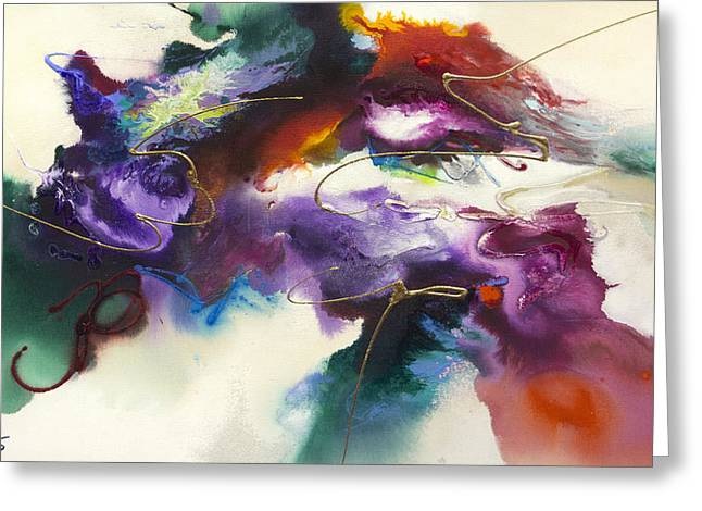 Recently Sold -  - Acrylic Art Greeting Cards - Flow #175 Greeting Card by Jonas Gerard