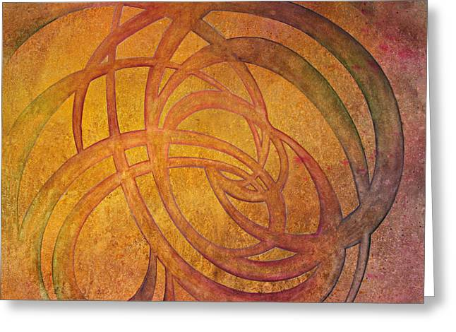 Celtic Knotwork Greeting Cards - Flow #4 Greeting Card by Ellen Starr