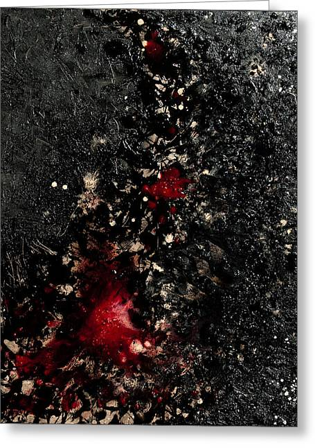 Bloodshed Greeting Cards - Flow of Mankind Greeting Card by Sora Neva