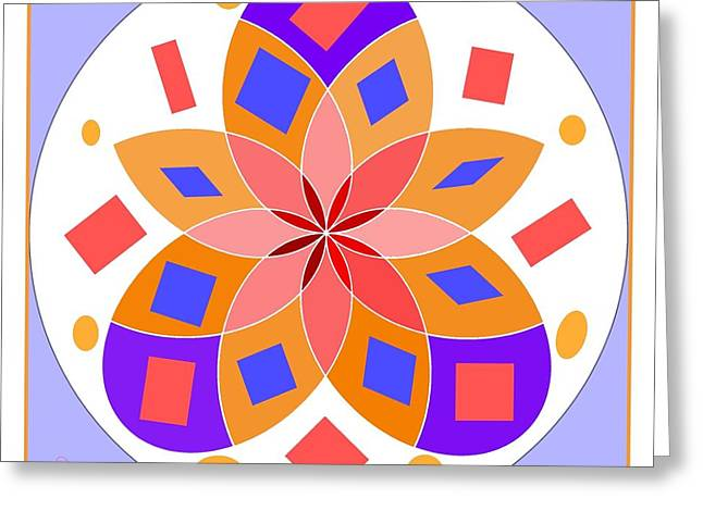 Flower 144d Greeting Card by Lawrence Nusbaum