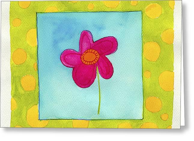 Juvenile Paintings Greeting Cards - Flower 2 Greeting Card by Esteban Studio