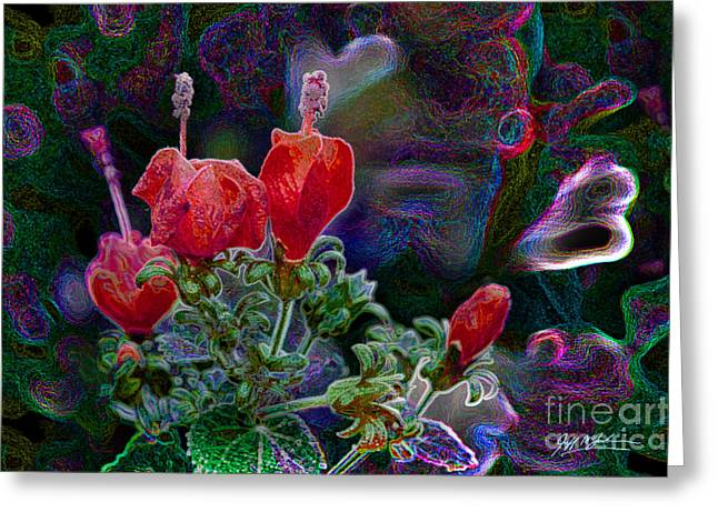 Jeff Mcjunkin Greeting Cards - Flower Abstraction Greeting Card by Jeff McJunkin