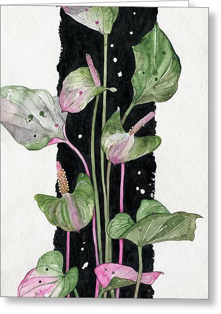 Elena Yakubovich Greeting Cards - Flower Anthurium 02 Elena Yakubovich Greeting Card by Elena Yakubovich
